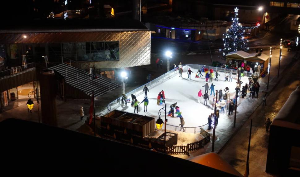 La patinoire de Plagne Centre